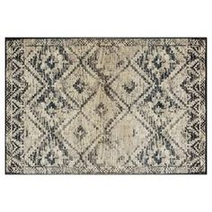 Picture of Black and Ivory Calypso Rug- 5x7 ft