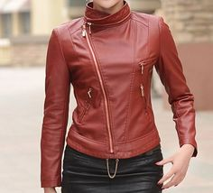 Custom made leather jackets available in different colors and sizes .. Order in now..