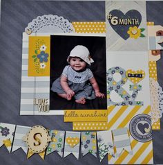 #papercraft #scrapbook #layout  Simple Stories A Charmed LIfe