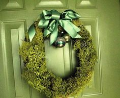 Lichen wreath. Use a common, but surprising material to make a unique wreath or centerpiece.  This wreath can be for a festive Christmas holiday or tailored for anytime of the year.