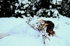Szpagat w sniegu brr Fot:Dorota Gąsior