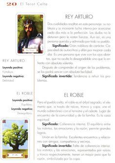 Tarot Celta, Manual, King Arthur, Noblesse, Textbook