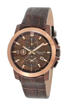 Men's Wrist Watches - Kenneth Cole New York Mens KC1884 Dress Sport Brown Dial and Brown Strap Watch * You can find more details by visiting the image link.