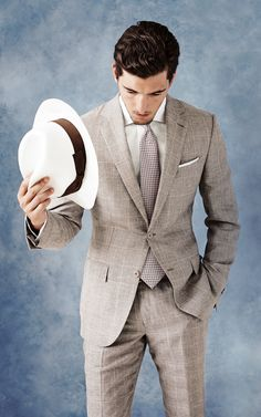 great color suit for spring or summer. perfect wedding suit