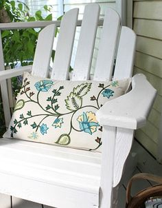 adirondack chairs, pillow, outdoor live, hous, porches, patio decorating on a budget, decorate patio on a budget, porch decorating ideas, decor idea