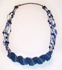 Twisted Peyote Spiral Necklace