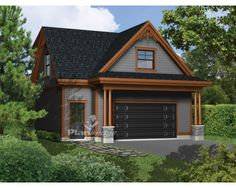 Garage apartment plans are closely related to carriage house designs. Typically, car storage with living quarters above defines an apartment garage plan. View our garage plans. Garage House, Carriage House Garage, Dream Garage, Garage Walls, Garage Cabinets, Garage Plans With Loft, Plan Garage, Garage Ideas, Garage Apartment Plans