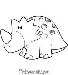 Colorear Triceratops