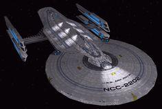 USS Ark Royal, kickass non-canon Starfleet battleship. Star Trek Rpg, Star Trek Ships, Star Terk, Starfleet Ships, Starship Concept, Star Trek Characters, Sci Fi Ships, Star Trek Starships, Star Trek Universe