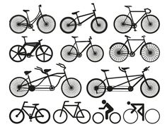 12 Free Bicycle Silhouette Vectors - Free Vector Site | Download Free Vector Art, Graphics