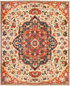 Antique Persian Sarouk Farahan Carpet 46926 Main Image - By Nazmiyal