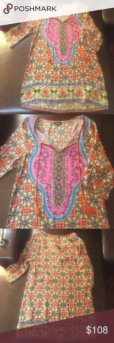 Tolani Silk Tunic or Dress All silk tunic or dress Tolani Tops Tunics