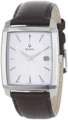 Bulova Men's 96B122 Silver Dial Strap Watch: Watches: Amazon.com