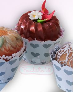 Nuevos modelos de cupcakes Satinados. Cursos en Paulitas, www.paulitas.com