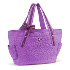 """STITCH: TOUS Stitch collection handbag. Polyester fabric combined with bovine leather. 29cm. x 48cm. x 10cm. - 11 7/16"""" x 18 7/8"""" x 3 15/16""""."""
