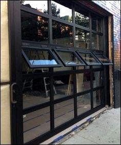 Overhead Sectional Garage Door - Crank Out Windows