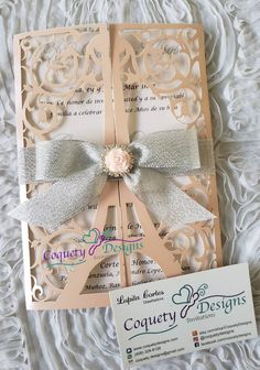 Pink Invitations, Invitation Design, Wedding Invitations, Invitation Ideas, Be Design, Custom Wine Labels, Cellophane Bags, Baby Shower, Quinceanera
