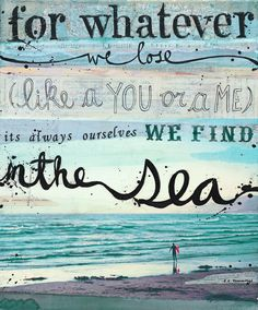Find Yourself in the Sea...