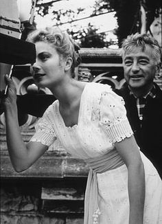 """""""The Swan"""" Grace Kelly and director Charles Windsor  I think this was set around 1912 - possibly a few years earlier?"""