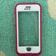 IPhone 5/5s lifeproof case Pink and white iPhone 5/5s nüd lifeproof case Accessories Phone Cases