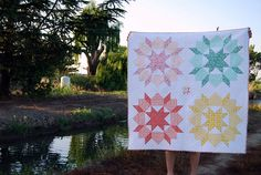 baby sized #swoon quilt.  I love the little star in the middle!