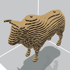 Bull 3D Model Made with 123D 123D Make