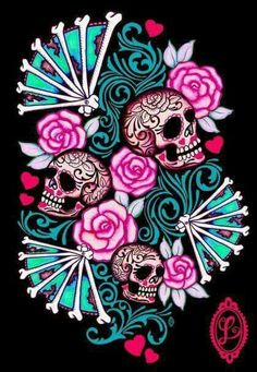 1305 best Beautiful Skulls images on Pinterest | Sugar skulls ...