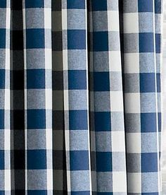 Window Toppers Buffalo Check Lined Pleated Scalloped Valance