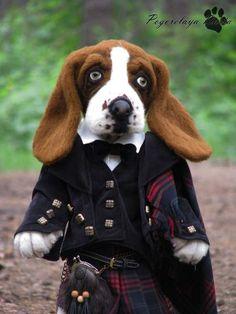 Basset hound dog Jackson By Pogorelaya Daria - Bear Pile