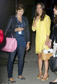 Pippa was seen socialising with Roger Federer's wife Miroslava Vavrinec Federer at the US Open Tennis Center in New York City after the game