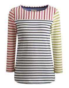 Joules Womens Jersey Top, Hotch Potch.                     If you like to be beside the seaside (or simply want a top that sings of coastal cool) this top ticks all the boxes.