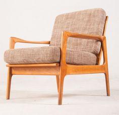 Fauteuil design teck scandinave 1950 par ILOVEJACOBSEN