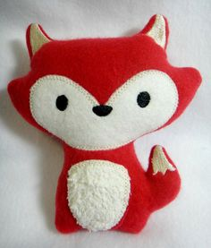 Fox Softie Toy by lilliannamarie on Etsy, $15.00