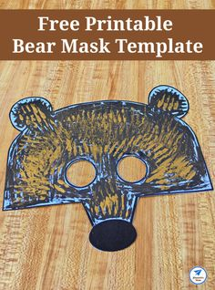 Free Printable Bear Mask Template - JDaniel4s Mom Wooden Craft Sticks, Craft Stick Crafts, Fall Crafts, Bear Mask, Bear Theme, Mask Template, Easy Crafts For Kids, Kid Crafts, Fantasy Books