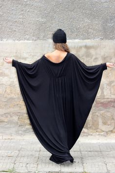 Black XXXL XXXXL Plus size oversized cotton caftan LONG dress/cover up dress / party dress / sundress/ everyday dress/evening dress