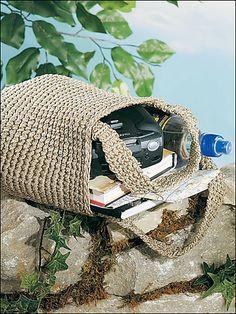 Ravelry: Rugged Crocheted Tote pattern by Crochet World Magazine