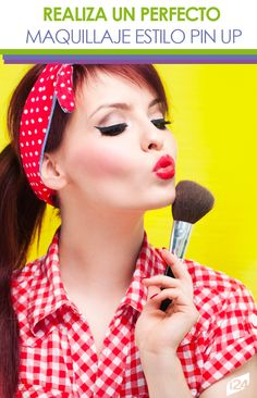Para las más coquetas, es un estilo genial #maquillaje #makeup #mujer #pinup Maquillaje Pin Up, Pin Up Makeup, Estilo Pin Up, Baby Shawer, Tips Belleza, Pinup, Make Up, Art, Mother Daughter Photos