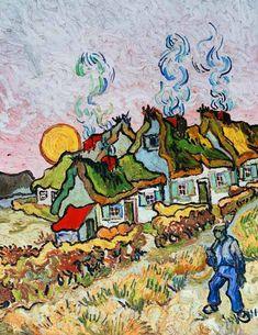 Bild:  Vincent. Thatched Cottages: Reminiscent of the North. Saint-Rémy 1890