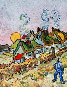 Bild:  Vincent. Thatched Cottages: Reminiscent of the North. Saint-Rémy 1890