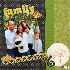 Family Flowers Stamped Smooch Ink Layout