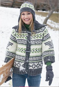 Ravelry: Navajo Cardigan and Hat pattern by Patons