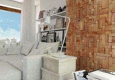 Panele dekoracyjne Cube z serii Wood Collection.