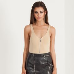 Maniere de Voir Nude Bodysuit ! NWT Brand new and never worn, still has tags! From brand Maniere de Voir Maniere de voir Tops