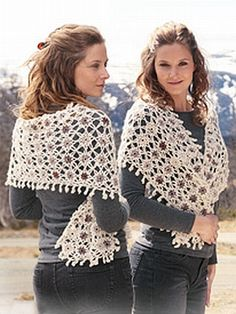 crochet pattern - floralia shawl