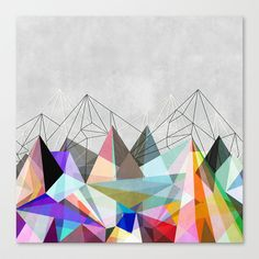 Colorflash 3 Stretched Canvas by Mareike Böhmer Graphics - $85.00