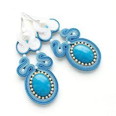 Moniq soutache - Wedding Earrings