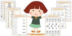 Schede Numeri Inglese Bambini