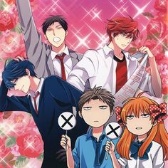 Gekkan Shoujo Nozaki-kun - this picture pretty accurately describes the show