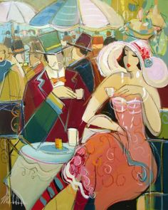 Cafes in Art (Isaac Maimon)