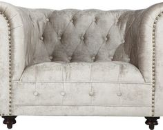 Creamy Low-back Tufted Chair, Home, decor, furniture, design, modern, living, contemporary, style.